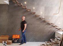 חיפוי קיר מדרגות באבן אלסטית122/61
